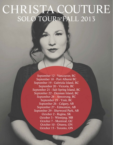 Christa Couture 2013 Canadian Tour Dates